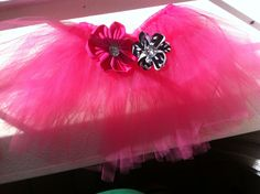 Handmade tutu and matching hair clips!