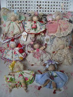 handmade 'spoolie' dolls