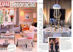 """Festa das Mesas 2015 - Revista Caras Decoração featured Leonor Moreira Romba Arquitecturas """"007 Golden Eye"""" table with Aldeco, Interior Fabrics partnership!"""