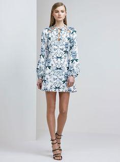Keepsake Keeping Score L/S Mini Dress – Light Floral Print