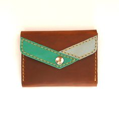 LEATHER WALLET / Leather Card holder / Leather coin purse by Lanhe, $44.00