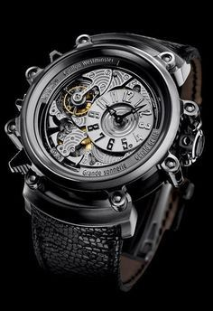 The Gerald Genta Arena Metasonic luxury watch is meant to be the most complex Grande Sonnerie watch in the world. Dream Watches, Men's Watches, Cool Watches, Fashion Watches, Unique Watches, Male Watches, Fashion Men, Fashion Brands, Luxury Fashion
