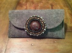 Felt clutch with embellishment