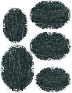 Blank oval chalkboard labels (3 sizes) ~ free printable