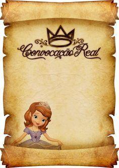 Convite Pergaminho Princesa Sofia 3