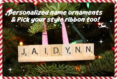 Design your own custom Scrabble Ornaments, Christmas Ornaments, Custom Ornaments, Name Ornament, Custom Name Ornaments, Scrabble, Personalized Ornaments, Christmas