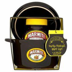 Marmite soup set with jar - Waitrose Marmite, Food Gifts, Kitchenware, Coffee Maker, Hate, Soup, Coffee Maker Machine, Coffee Percolator, Coffee Making Machine