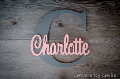 Baby name, letter decor, wall art, initial letter, nursery decor, baby girl, girl room, girl #nursery, name on the wall, name sign, cursive, pink,  crib, picture above the crib, baby #babygirl #sign #newborn #homedecor #cricut #homedecor #diydecor #afflink #ss