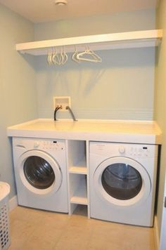Laundry design ideas with drying room that you must try 18 Laundry Room Shelves, Laundry Room Remodel, Basement Laundry, Laundry Storage, Laundry Room Organization, Closet Storage, Diy Storage, Storage Ideas, Storage Shelves
