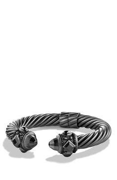 Women's David Yurman 'Renaissance' Bracelet with Black Diamonds - Black Diamond