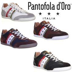 Pantofola D Oro Ascoli Piceno Mens Leather Trainers Black Size EU 40 - 45 | eBay