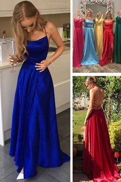 e3cef31d9644 Simple long prom dresses, prom dresses, royal blue prom dresses, red prom  dresses, graduation dresses