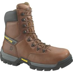 Wolverine Boots Wolverine Brown Matrix CarbonMax Safety-Toe SR Work Boot 8 Inch Men Boots W02294
