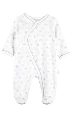 Le Top {baby} 'Elephant Walk' Footed Coverall