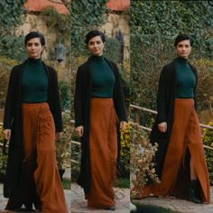 >>>Cheap Sale OFF! >>>Visit>> Tuba Buyukustun in Cesur ve Guzel 6 episode Modest Winter Outfits, Trendy Summer Outfits, Casual Outfits, Fall Outfits, Human Poses Reference, Gilet Long, Fashion Illustration Dresses, Turkish Fashion, Chic Dress