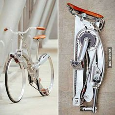 Spokeless fold-up bicycle. Someone bring this to me immediately.