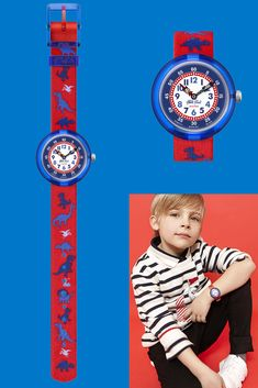One of our most popular kids watches, DINOSAURITOS (ZFBNP117) helps the little ones learn to tell the time by turning back the clock, to the era of dinosaurs. A Swiss-made stone-age accessory with prehistoric primary colours, this kids watch has red and blue components made from BPA-free plastic, for extra safety and comfort.  Time makes history and vice versa with this fantastic gift for kids. Stone Age, Telling Time, Prehistoric, Dinosaurs, Primary Colors, Little Ones, Gifts For Kids, Turning, Red And Blue