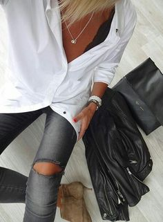 Fashion and Street Style Looks Street Style, Looks Style, Looks Jeans, Mode Shoes, Look Fashion, Womens Fashion, Cooler Look, Inspiration Mode, Mode Style