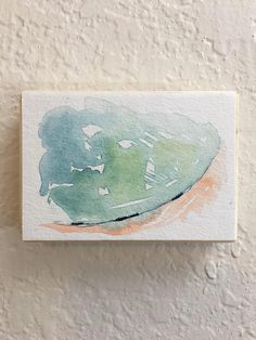 Mini Painting Original Watercolor Landscape Miniature