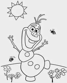 Espaço Educar desenhos para colorir : Desenhos de Frozen uma aventura congelante para colorir pintar imprimir ou preparar atividades