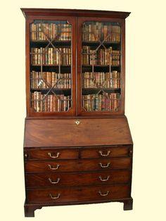 antique secretary bookcase