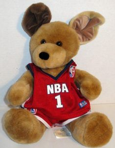 071118be2af Build a bear brown sugar pup puppy dog in nba outfit 14