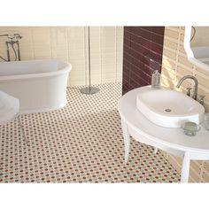 Kaleidoscope Terra - Ceramic Floor Tile with Minton inspired pattern. Lowest online prices on ceramic floor tiles from Crown Tiles. Ceramic Floor Tiles, Wall And Floor Tiles, Wall Tiles, Ceramic Flooring, Cement Tiles, Glazed Tiles, Glazed Ceramic, Floor Design, Tile Design