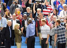 Joe Biden, Jill Biden, Barack Obama and Prince Harry attend the Basketball on day 7 of the Invictus Games Toronto 2017 at the Pan Am Sports Centre on September 29, 2017 in Toronto, Canada. The Games use the power of sport to inspire recovery, support rehabilitation and generate a wider understanding and respect for the Armed Forces.