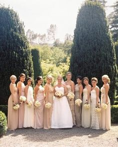 Different bridesmaid dresses!