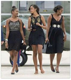 Gorgeous lady Obamas...such American class and heart!