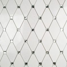 Reflection Diamond White Thassos & Mirror Marble & Glass Tile - Diamond Shaped Tiles - Shop By Tile Patterns & Shapes Marble Mosaic, Glass Mosaic Tiles, Glass Tile Bathroom, Bath Tiles, Marble Floor, Carrara Marble, Glass Installation, Mirror Tiles, Mirror Mosaic