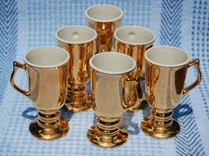 Hall China Golden Glow Irish Coffee Cups- Set of 6. $50.00, via Etsy.