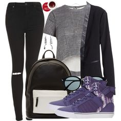 Draco Malfoy Inspired Outfit by hpstyle on Polyvore featuring BCBGMAXAZRIA, H&M, Topshop, Supra, PB 0110, 21dgrs and Korres