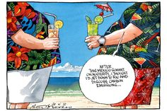 Don't you just love business tourism!  Peter Brookes cartoon