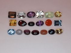Sale Mixed Lot Natural Gemstones from scrap gold silver & vintage jewelry