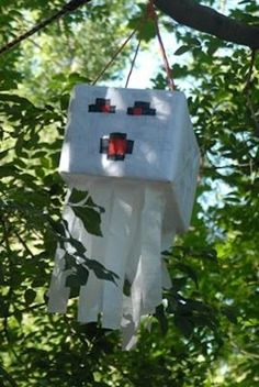 Minecraft party- Ghast piñata I'm going to attempt to make :)