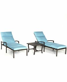 Holden Outdoor Patio Furniture, 3 Piece Chaise Set (2 Chaise Lounges and 1 End Table)