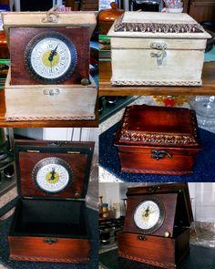 cofanetto da tavolo con orologio