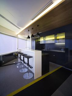 DLA Piper's office by Woods Bagot, Perth   Australia office design   |   Small break area with bar style seating. Appropriate!