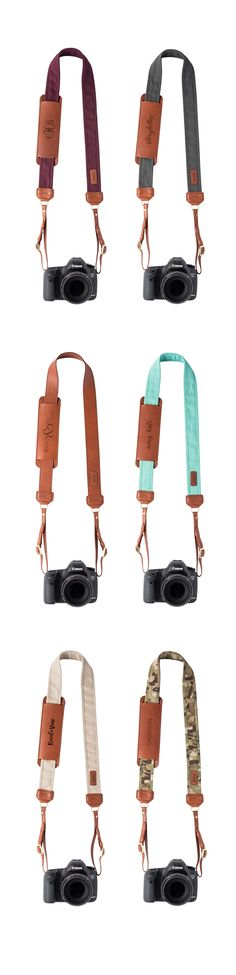 Fotostrap Collection - Genuine Leather, USA Made, Personalize with Monogram or business logo. FOTO | www.fotostrap.com