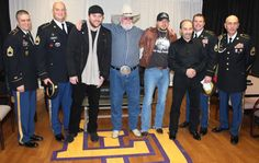Chris Young, Charlie Daniels, Jason Aldean, Lee Greenwood with members of the