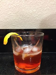 Negroni D&M 1 oz. Few Gin 1 oz. Cappeletti  1 oz. Carano Antica Garnish with orange peel