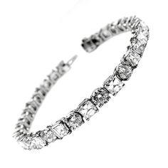 1stdibs.com | Round Brilliant and Asscher Bracelet