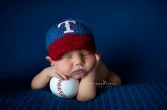 Baby Baseball Cap, Hat and Diaper Cover Set in Texas Rangers inspired on Etsy, $49.50