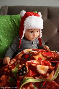 Super quick and easy family sized blanket tutorial via Marissa Fischer | Rae Gun Ramblings