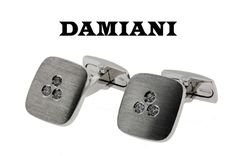 www.jewelrybydavid.com Damiani diamond cufflinks in 18K white gold new with tag in box. Link to the item https://www.jewelrybydavid.com/collections/damiani/products/damiani-diamond-cufflinks-in-18k-white-gold-new-with-tag-in-box-1