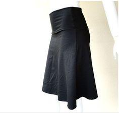 Short skirt - basic a line skirt - black skirt - organic cotton skirt - custom made organic womens clothing on Etsy, $64.00