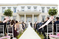 Outdoor wedding ceremony. Buxted Park Hotel wedding photography. Sussex wedding at Buxted Park Hotel. Beautiful English countryside. By Dennison Studios Photography. Wedding inspiration.