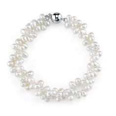 4mm Rice Shaped White Freshwater Cultured Pearl Bracelet. All of our Freshwater Pearls are imported directly from the source, the pearl farms in China. This bracelet is comprised of the highest quality .925 sterling silver. Only the most elegant jewelry boxes are used to package and ship our bracelets, ensuring the most beautiful presentation possible. Additionally, all products are accompanied with a genuine cultured pearl guarantee, verifying the quality and source of the pearls. To...