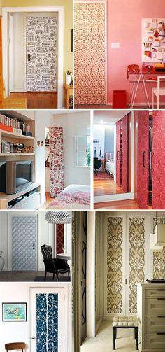 tecido para parede porta decorada